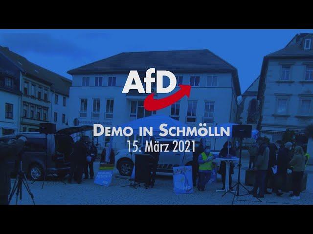 Demo in Schmölln am15.03.2021