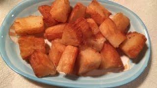 Yuca Frita Con Sabor Y Sasón Boricua