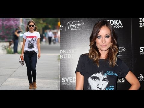 Olivia Wilde Shows Us How To Rock A T-Shirt | Celebrity Style | Fashion Flash
