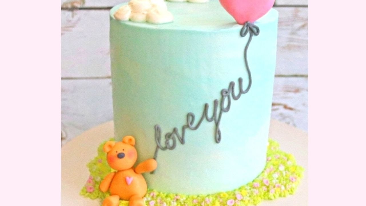 Teddy Bear And Balloon Cake A Free Decorating Video