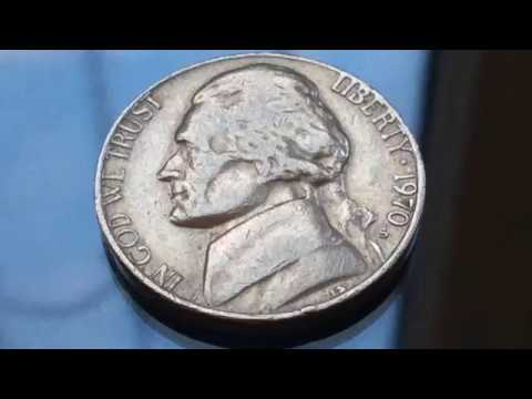 Rare And Expensive 1970 S Jefferson Nickel US Coins Five Cents Numismatic Рідкісні монети