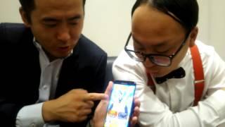 トレンディエンジェルの公式アプリ第3弾! おっさんにしがみついた斎藤...