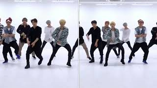 Even in different positions, the boys are in sync - amazing!!