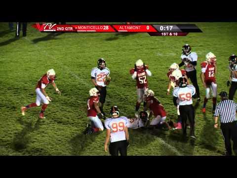 VTV Channel 6 High School Football: Monticello @ Altamont 2014