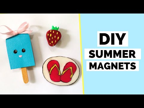 DIY Summer Magnets   How To Make Magnets For a Fridge or a Locker
