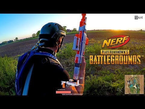 Thumbnail: Nerf meets PlayerUnknown's Battlegrounds! (PUBG in real life)