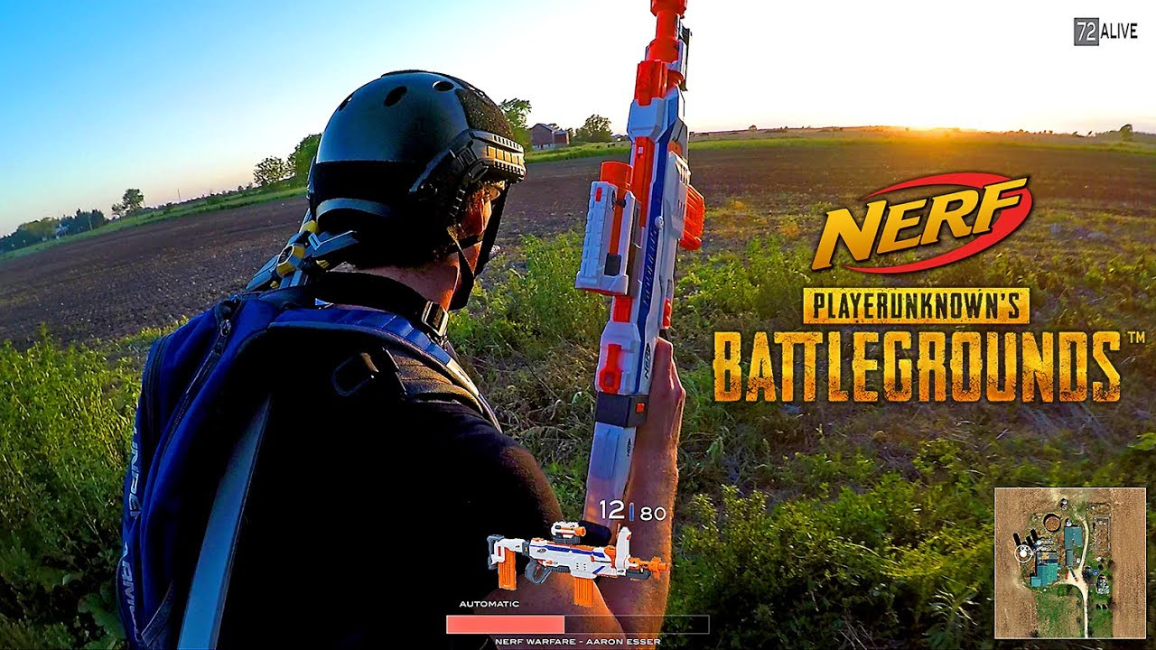 Nerf Meets PlayerUnknown's Battlegrounds! (PUBG In Real