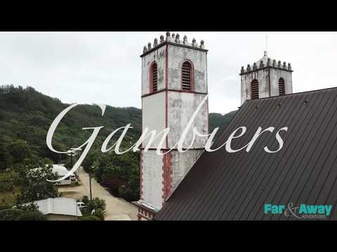 gambier-islands,-french-polynesia---drone-footage