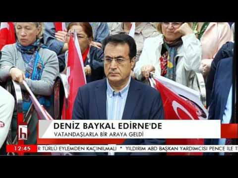 DENİZ BAYKAL EDİRNE'DE HALKA SESLENDİ 09 04 2017