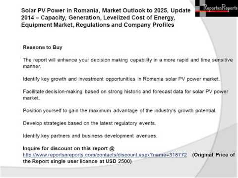 Romania Solar PV Power Market (Capacity, Generation, Levelized Cost of Energy) Outlook to 2025