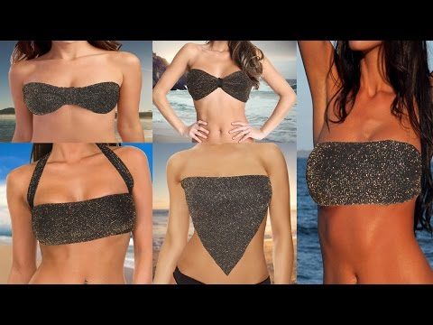 5 Ways to Transform Your Scarf into a Sexy Bikini Top (NO-SEW)