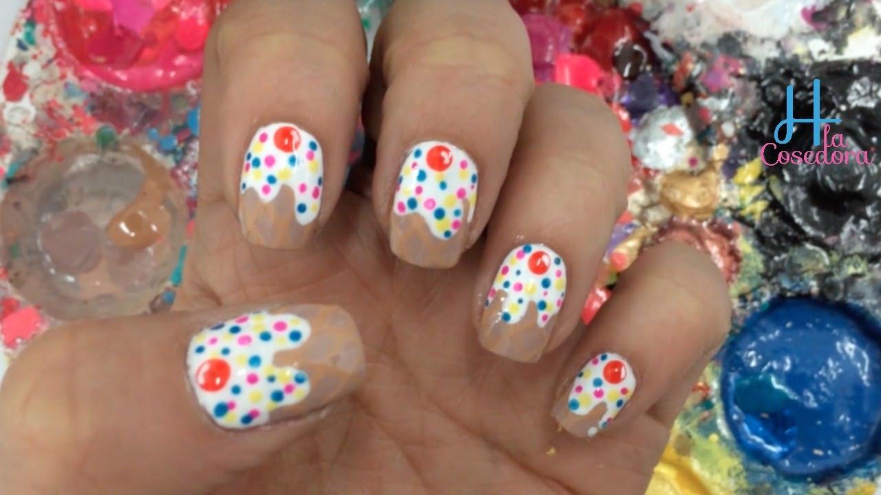 Decoracion de u as helados ice cream nail art youtube - Decoracion de helados ...