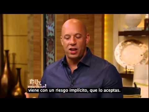 """Vin Diesel Habla de la Muerte de Paul Walker en Programa """"De los peores momentos de mi vida """"  2014"""