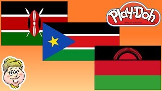 Play-Doh Flags! Kenya, South Sudan, and Malawi! EWMJ #458
