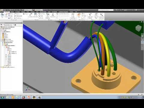 hqdefault completed cable and harness autodesk inventor exercise youtube cable harness diagram at mr168.co