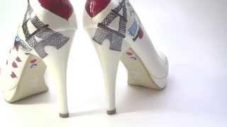 Pariste Aşk Tasarımı Gelin Ayakkabısı