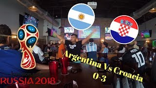 Argentina VS Croacia 0-3 - Reacciones de hinchas Argentinos