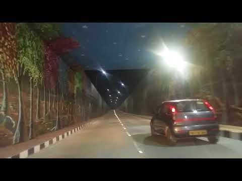 Under pass road shilparamam hitech city to madhapur 100 feet road.