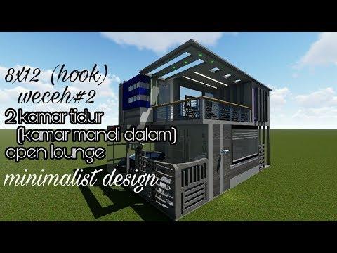 design rumah 8x12(hook) minimalis weceh#2