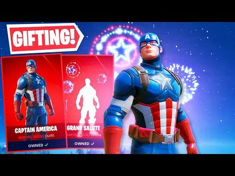 *NEW* CAPTAIN AMERICA In Fortnite! (GIFTING)