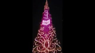 Burj Khalifa LED Lightning Show 2016