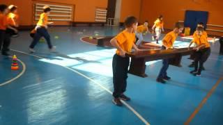 Урок гимнастики в 5 классе