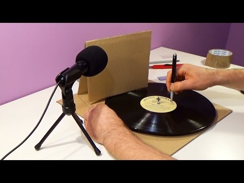 DIY: Cardboard Record Player (Turntable/Gramophone)
