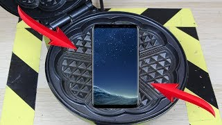 Experiment Samsung Glaxy s8 VS Waffle Iron | The Crusher