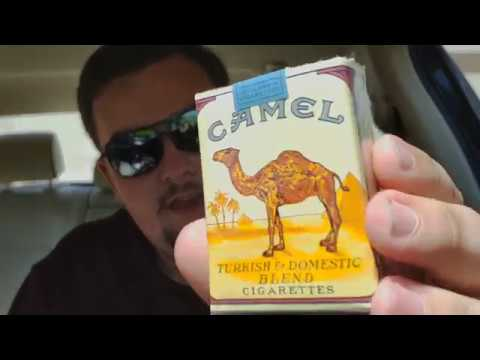 Camel cigarettes unfiltered heets yellow amber