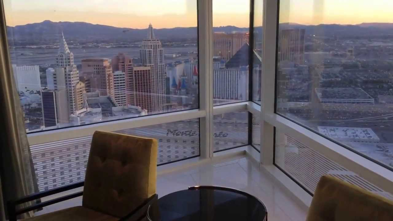 One Bedroom Penthouse Aria Hotel Panoramic View Youtube