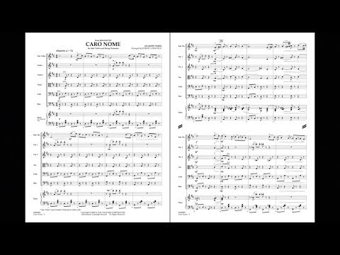 Caro Nome (from Rigoletto) by Giuseppe Verdi/arr. Robert Longfield