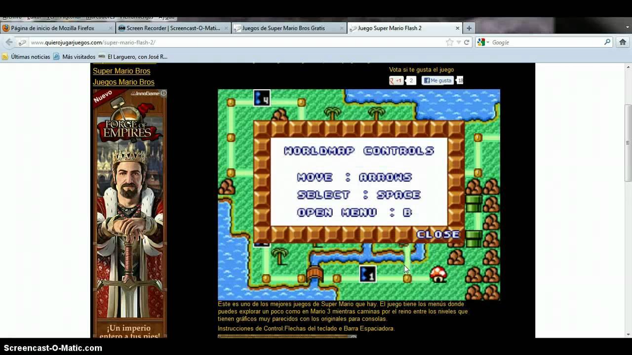 Como Jugar A Mario Bros En Tu Pc Sin Descargar Youtube