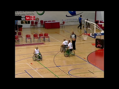 SAUDI ARABIA V/S BAHRAIN(9th Fazza wheelchair basketball international chapionships-Dubai2017)