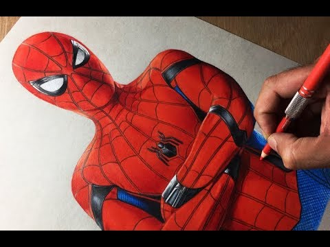 Drawing Spiderman Homecoming Marvel Avengers Timelapse Artology