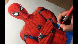 Drawing Spiderman Homecoming - Marvel - Avengers - Timelapse | Artology
