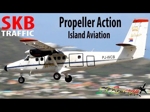 Propeller Action !!! Winair Twin Otter, Ameriflight Metroliner...arrivals @ St. Kitts Airport