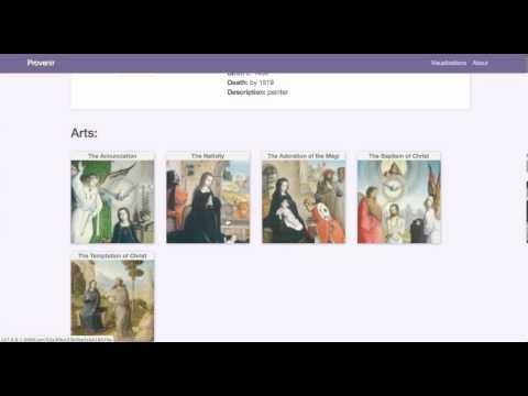 Provenir - A website for art provenance