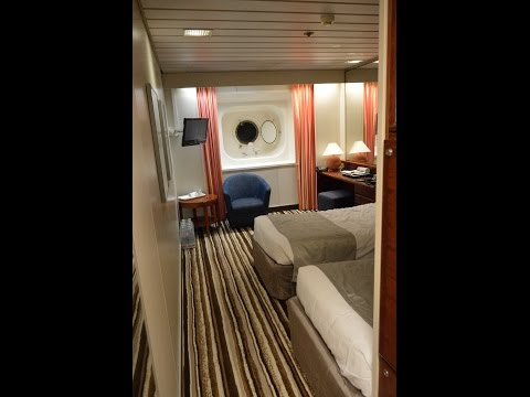 """P&O Pacific Pearl Twin share """"Ocean View"""" cabin 4126 Mid Ship July 2016 (Now the CMV Columbus)"""