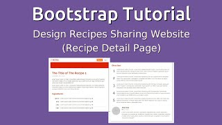 Bootstrap 3 Tutorial  - Design Recipes Sharing Website (Page Detail)
