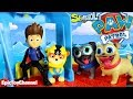PAW PATROL Nickelodeon Sea Patrol Rescue Pups Meet Disney Puppy Dog Pals at Beach Adventure Look Out