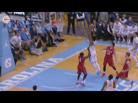 UNC Men's Basketball: Hicks Dunks on the Break vs. Davidson