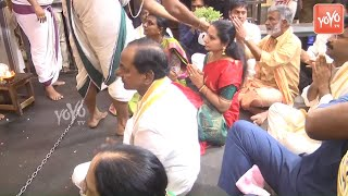 CM KCR At Athi Varadar Swamy Temple  Kanchipuram  MLA Roja  Telangana News  YOYO TV Channel