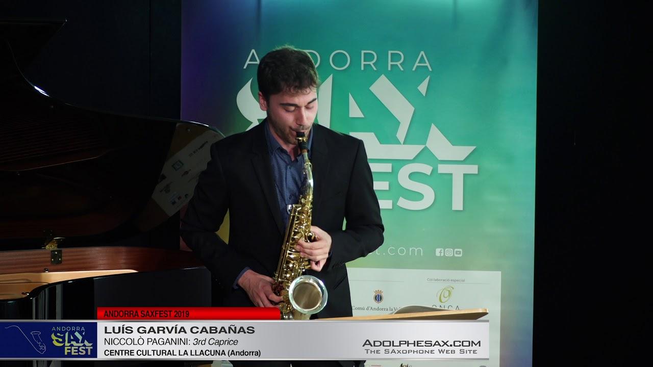 Andorra SaxFest 2019 1st Round   Luis Garvía Cabañas   3rd Caprice by Niccolo Paganini