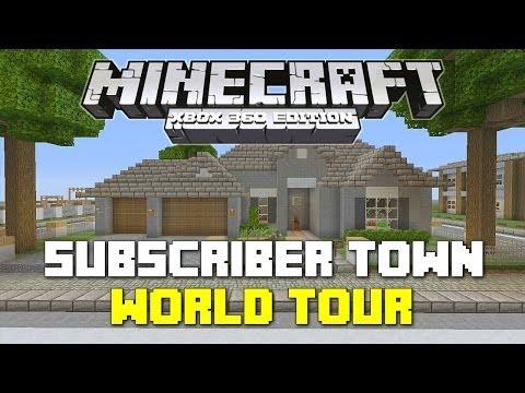 Minecraft Xbox 360: Subscriber Town Showcase 2!
