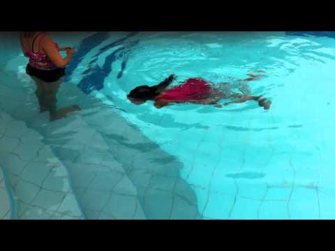 Swimming dancing style in the pool by Indy