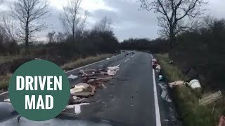 Fly-tippers dump quarter of a mile of debris