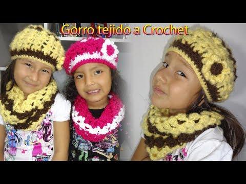 "GORRA TEJIDA A CROCHET ""1° MODELO"" PASO A PASO from YouTube · Duration:  26 minutes 2 seconds"