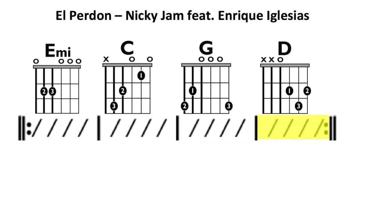 El Perdon Nicky Jam Ft Enrique Iglasias Moving Chord Chart