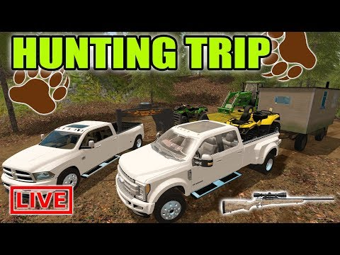 FS17 / THE HUNTER | MULTIPLAYER BEAR HUNTING TRIP WITH NEW TRUCKS + ATVS  + BLIND!
