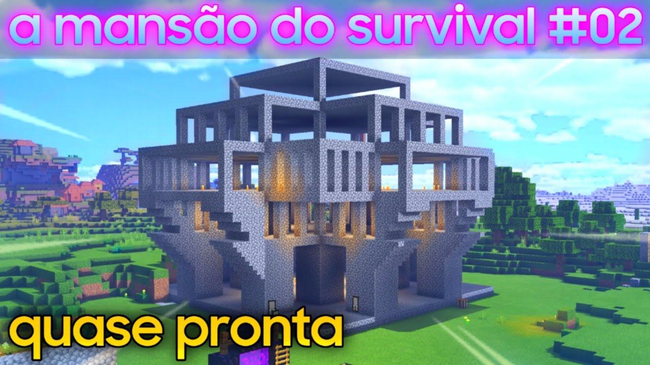 Minecraft PE - a mansão do SURVIVAL #02